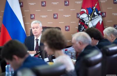 Мэр Москвы Сергей Собянин на заседании Президиума Правительства Москвы 9 июня