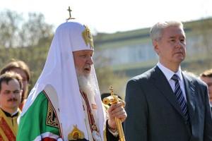 Сергей Собянин присутствовал на церемонии освещения храма в Лиховом переулке