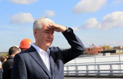 Сергей Собянин рассказал о темпах строительства на Северо-Западной хорде