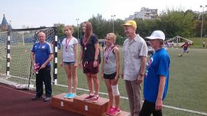 церемония награждения лучших легкоатлетов