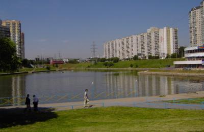 Вид на пруд в районе Чертаново Северное