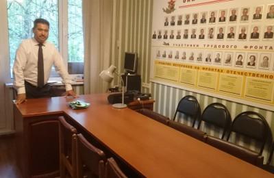 Назиржон Абдуганиев в обновленном помещении