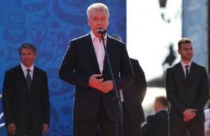 Мэр Москвы Сергей Собянин принял участие в запуске обратного отсчета до начала ЧМ-2018