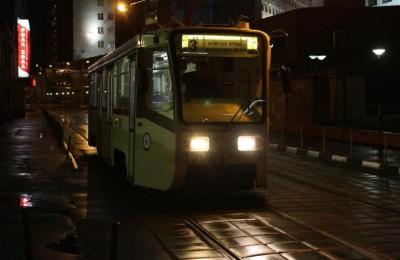 На юге столицы на время отменили ночной маршрут трамвая №3