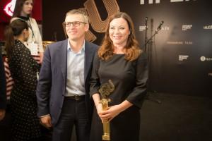 Артем Ермолаев и Елена Шинкарук на вручении «Премии Рунета»
