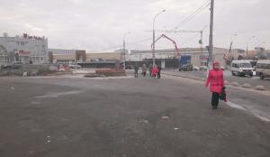 Место снесенного самостроя у метро «Южная» на улице Кировоградская