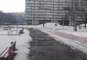 В районе Чертаново Северное устранено подтопление придомовой территории