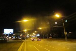 Освещение на Варшавском шоссе после проведенных ремонтных работ