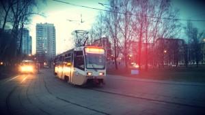 Трамвай №3, курсирующий по району Чертаново Северное