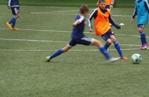 На занятиях футбольной школы «Чертаново»