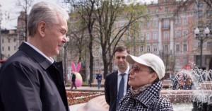 Мэр Москвы Сергей Собянин на торжественном открытии сезона фонтанов