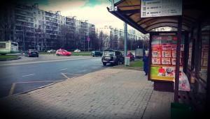 Одна из остановок общественного транспорта в районе Чертаново Северное