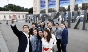Выпускной в Парке Горького в Москве