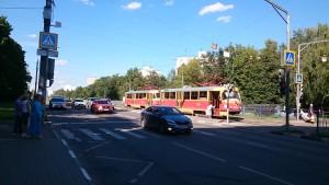 Трамвай в районе Чертаново Северное