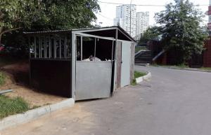 Приведенная в порядок контейнерная   площадка у дома №9, корпус 2 на Кировоградской улице