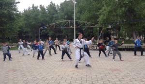 Юные чертановцы на тренировках в лагере у Черного моря