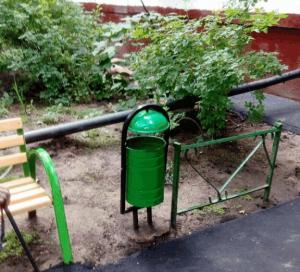 После ремонта во дворе дома №27 в Сумском проезде