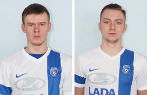 Полузащитник Максим Мережко (слева) и защитник Родион Казаков (справа)