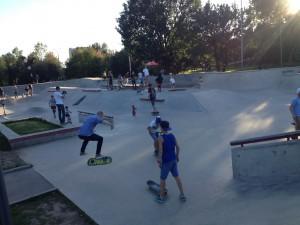 Площадка для роллерспорта, скейтбординга и самокатного спорта