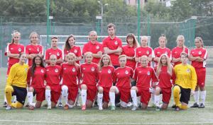 Сборная Москвы с футболистками 1998/1999 годов рождения, в составе которой сразу восемь воспитанниц школы «Чертаново»