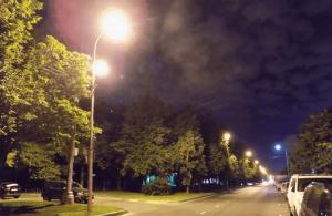 Восстановленное освещение на Сумской улице в Чертанове Северном