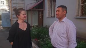 Назиржон Абдуганиев с одним из продюсеров фильма Еленой Гликман