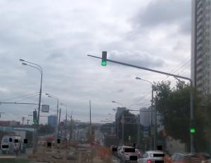 Исправный светофор на Варшавском шоссе
