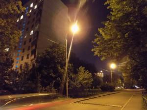 Уличный фонарь в одном из дворов района Чертаново Северное
