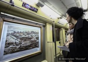 Новую выставку поезда «Акварель» столичной подземки посвятили истории Москвы