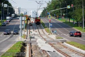 Ремонт трамвайных путей в ЮАО