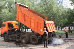 Дорожные работы в ЮАО