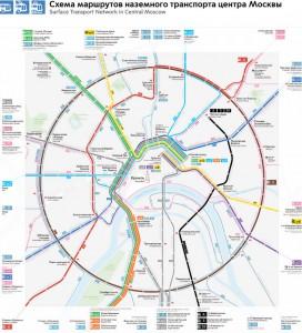 """Схема сети маршрутов """"Магистраль"""""""