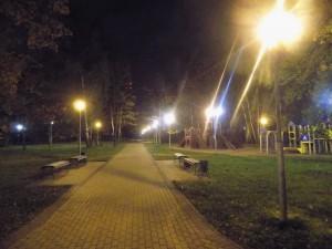 Восстановленное освещение в парке