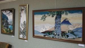 """Картины на выставке """"Горы, воды"""""""