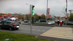 Отремонтированный светофор