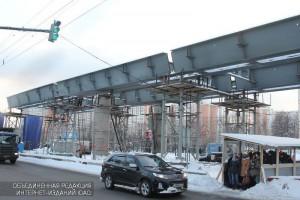 Строящаяся эстакада на Липецкой улице