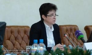 Татьяна Полякова на пресс-конференции