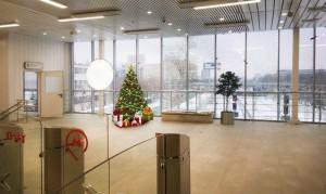 Новогоднее оформление на станции МЦК