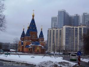 Храм в честь Державной иконы Божией Матери в районе Чертаново Северное