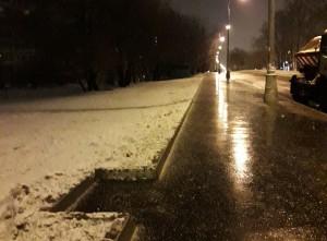 Очищенный тротуар