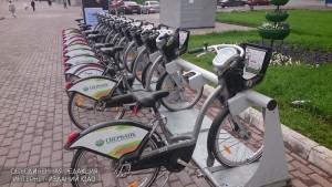 Пункт проката велосипедов у метро Чертановская