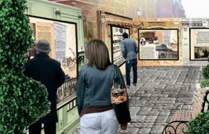 Уличные выставки оформят в виде фасадов исторических зданий Москвы