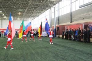 Церемония открытия футбольной игры