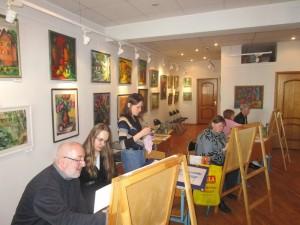 Мастер-класс по живописи провели в районе