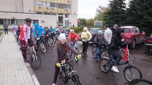 Участники велопробега
