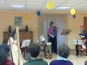 Концерт о любви провели в библиотеке района