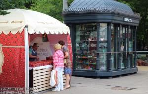 Палатка по продаже клубники в округе