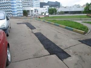 Отремонтированная дорога в районе