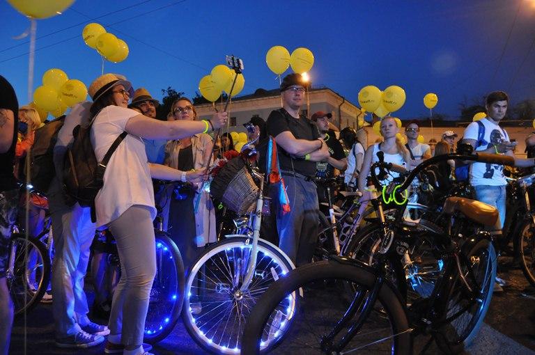 Ночной велопарад пройдет по основным улицам столицы