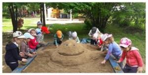 Конкурс по лепке песочных фигур организовали в школе №1179